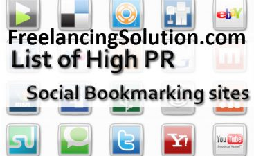 High PR Social Bookmarking Sites FreelancingSolution.com