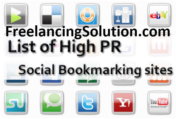 High PR Social Bookmarking Sites FreelancingSolution.com